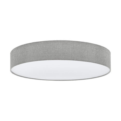 Pasteri Grey Fabric Close to Ceiling Light - 5x25W