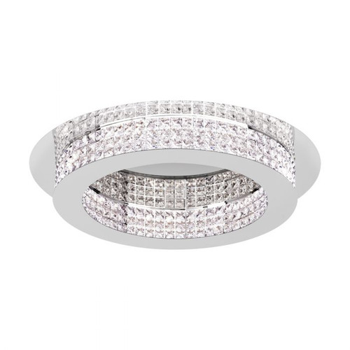 Principe Chrome Crystal Close to Ceiling Ring Light - Large
