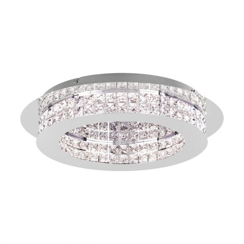 Principe Chrome Crystal Close to Ceiling Ring Light - Small