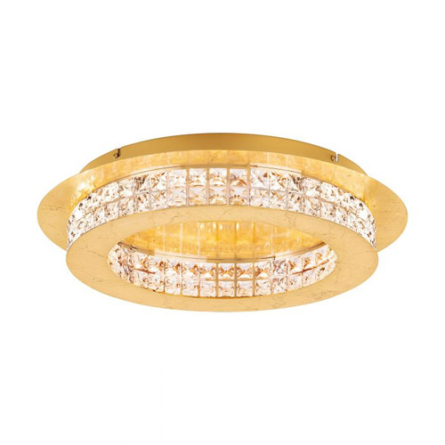 Principe Gold Crystal Close to Ceiling Ring Light - Small