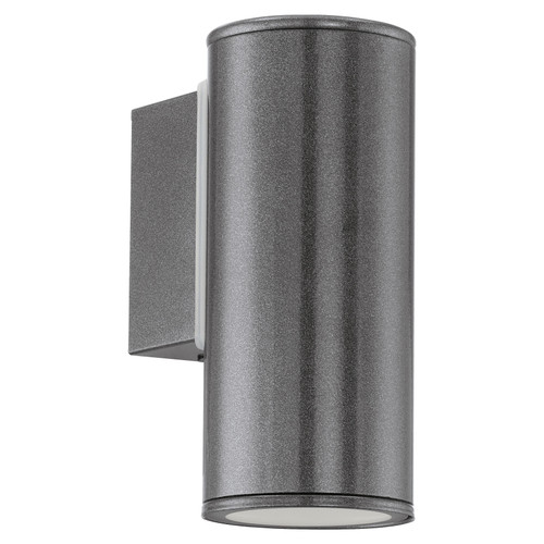 Riga Anthracite Down Outdoor Wall Light