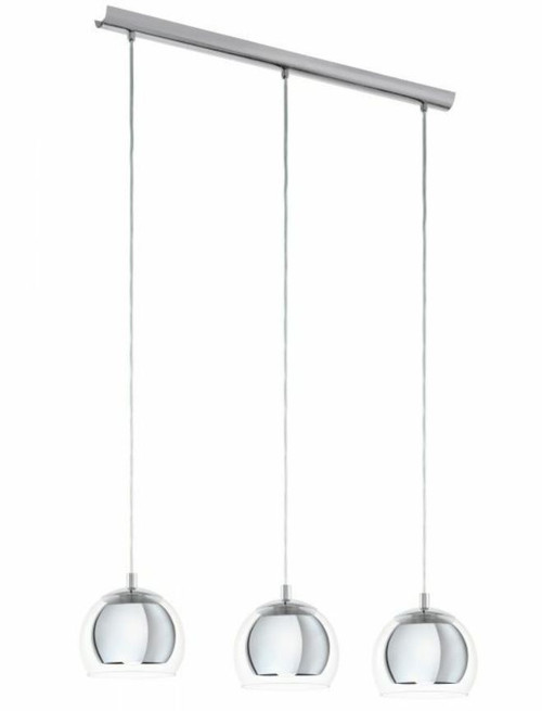 Rocamar 3 Light Clear Glass Cluster Pendant Light