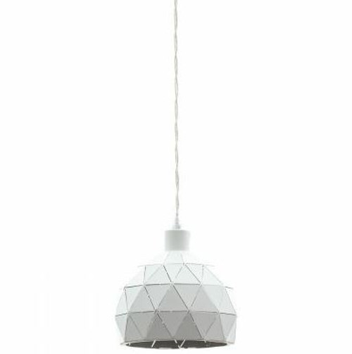 Roccaforte Geometric White Mini Pendant Light