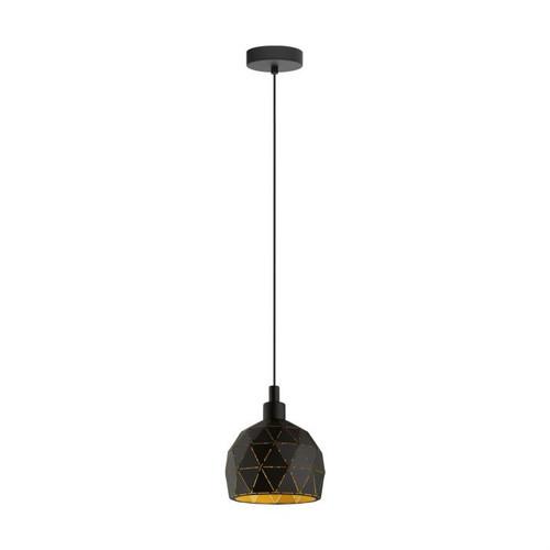 Roccaforte Geometric Black Gold Mini Pendant Light