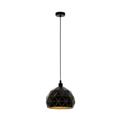 Roccaforte Geometric Black Gold Pendant Light