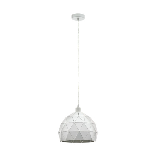 Roccaforte Geometric White Pendant Light
