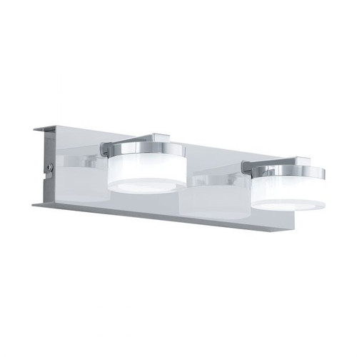 Romendo 2 Light Chrome Linear Wall Light