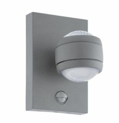 Sesimba Hanging Ball Silver Outdoor Sensor Wall Light