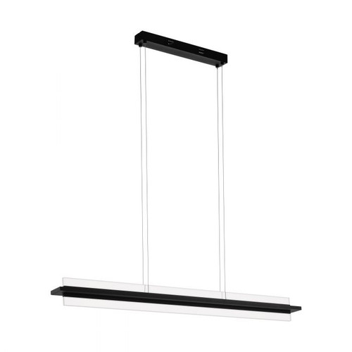 Spadafora Kitchen Island Black LED Pendant Light