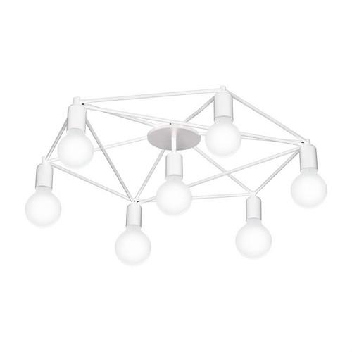 Staiti Web 7 Light White Close To Ceiling Light