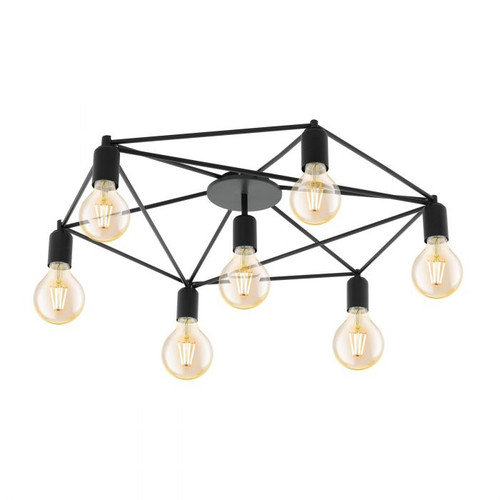 Staiti Web 7 Light Black Close To Ceiling Light
