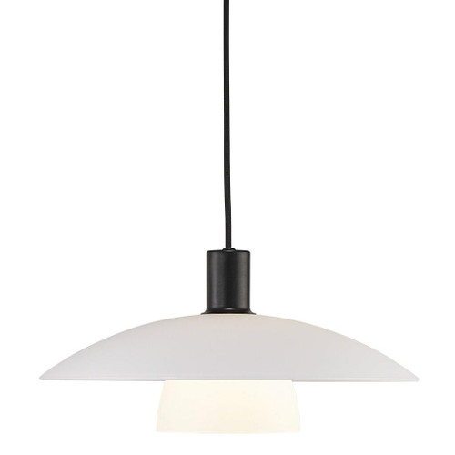 Verona Opal White Saucer Pendant Light