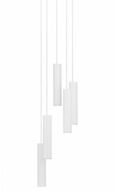 Terrasini 5 Light Cylinder White LED Cluster Pendant Light
