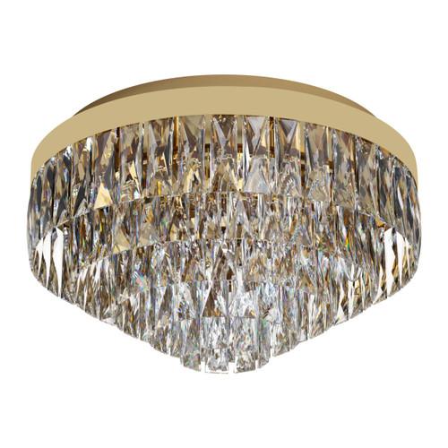 Valparaiso 8 Light Gold Crystal Close To Ceiling Light