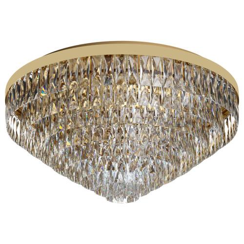Valparaiso 16 Light Gold Crystal Close To Ceiling Light