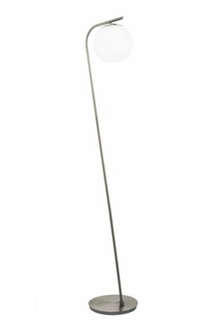 Terriente Satin Nickel Modern Floor Lamp