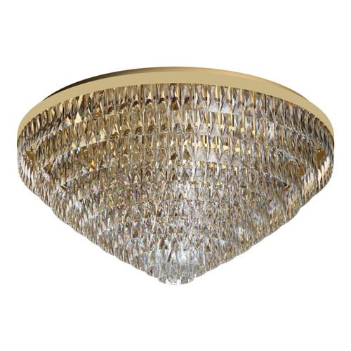 Valparaiso 25 Light Gold Crystal Close To Ceiling Light