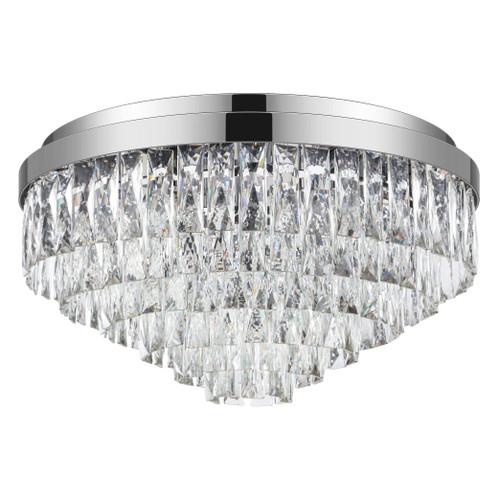 Valparaiso 8 Light Chrome Crystal Close To Ceiling Light