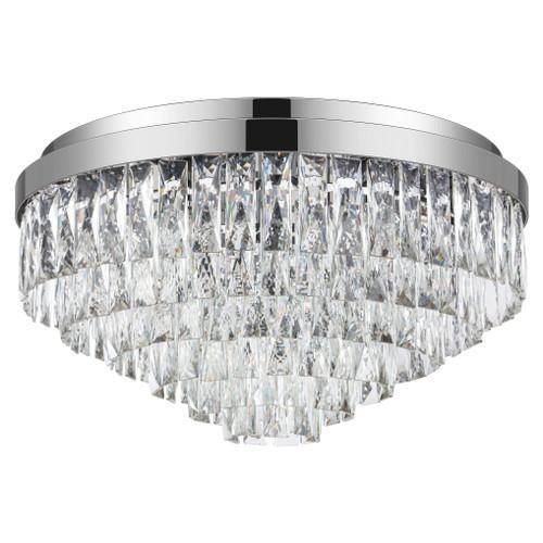 Valparaiso 11 Light Chrome Crystal Close To Ceiling Light