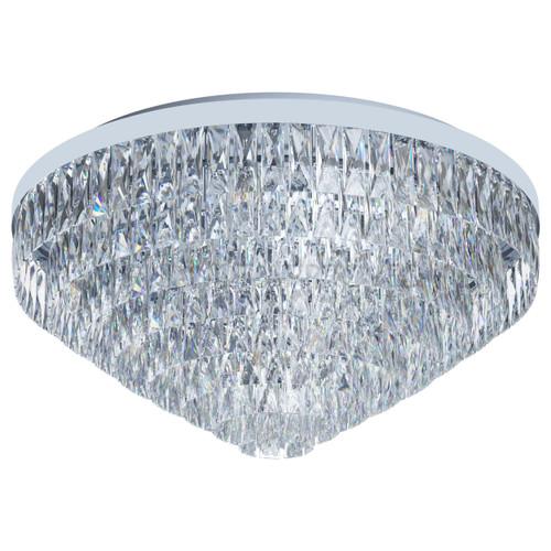 Valparaiso 16 Light Chrome Crystal Close To Ceiling Light