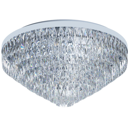 Valparaiso 25 Light Chrome Crystal Close To Ceiling Light