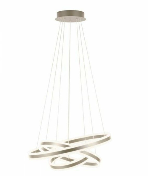 Tonarella Champagne 3 Rings LED Pendant Chandelier