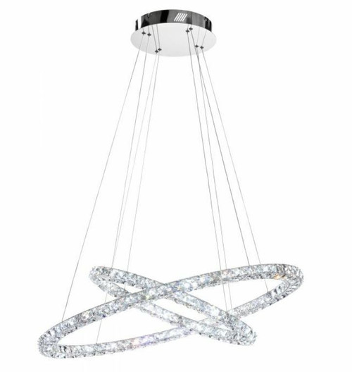 Toneria Crystal Rings LED Pendant Chandelier