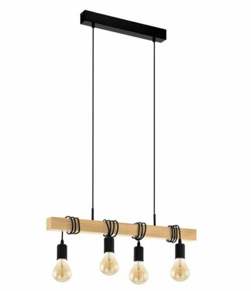 Townshend 4 Light Natural Wooden Linear Pendant Light