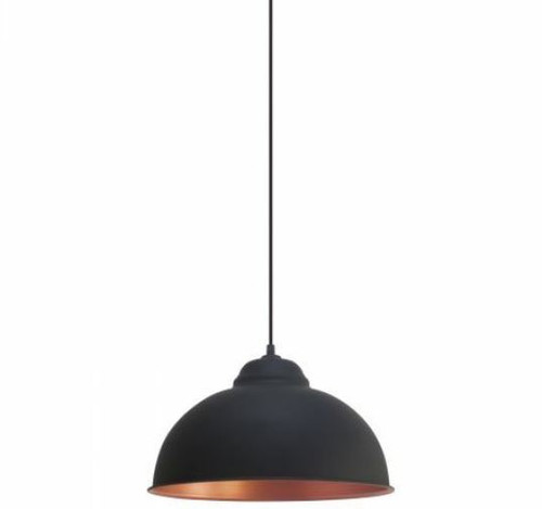 Truro Dome Black Copper Pendant Light