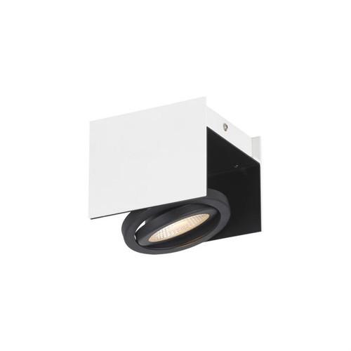 Vidago 1 Light White Black Close To Ceiling Light
