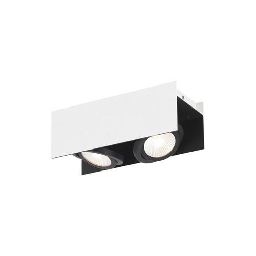 Vidago 2 Light White Black Close To Ceiling Light