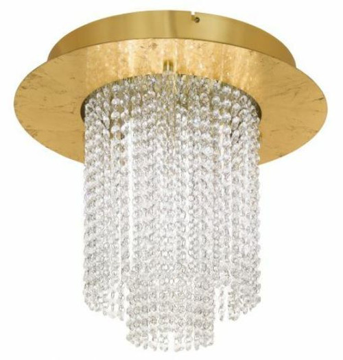 Vilalones Cascading Gold Crystal Close To Ceiling Light