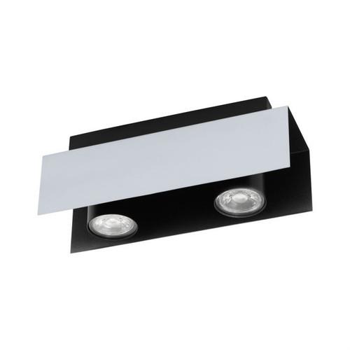 Viserba 2 Light Black Aluminum Close To Ceiling Light