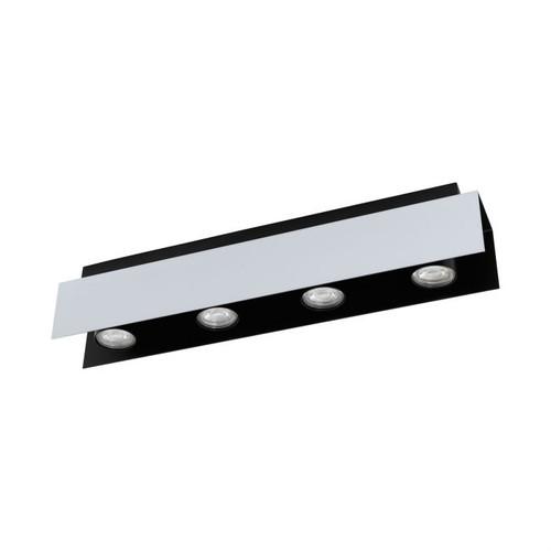 Viserba 4 Light Black Aluminum Close To Ceiling Light