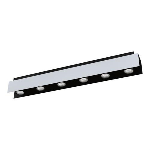 Viserba 6 Light Black Aluminum Close To Ceiling Light