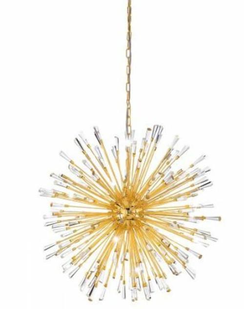Vivaldo 21 Light Dandelion Gold LED Pendant Light