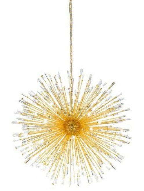 Vivaldo 32 Light Dandelion Gold LED Pendant Light