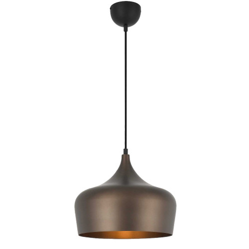Piper Dome Black Pendant Light