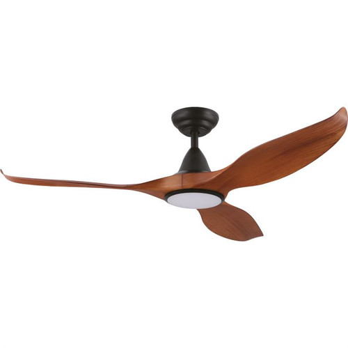 "Noosa 52"" DC ABS Ceiling Fan with LED Light - Teak and Black"