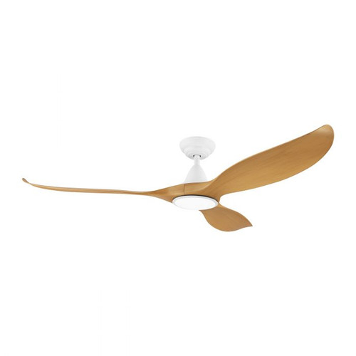"Noosa 60"" DC ABS Ceiling Fan with LED Light - Bamboo and White"