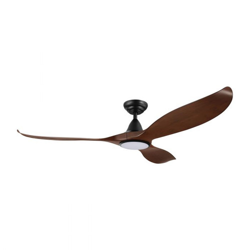"Noosa 60"" DC ABS Ceiling Fan with LED Light - Aged Elm and Black"