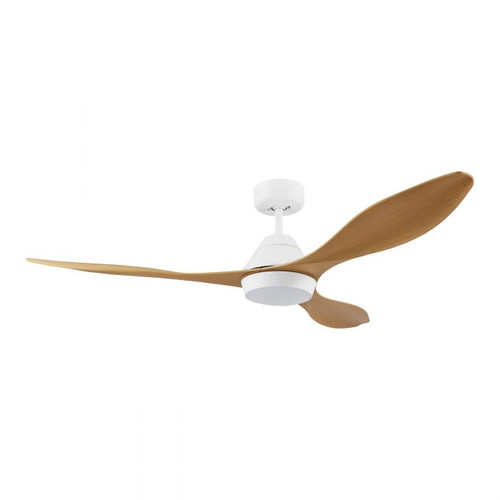 Nevis 52 DC Ceiling Fan with LED Light - Bamboo and White