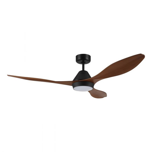 "Nevis 52"" DC Ceiling Fan with LED Light - Teak and Black"