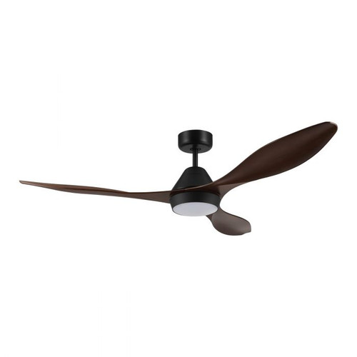 Nevis 52 DC Ceiling Fan with LED Light - Aged Elm and Black