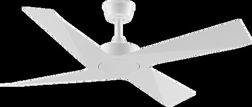 """Modn 4 Blade 52"""" 132cm Ceiling Fan - White"""