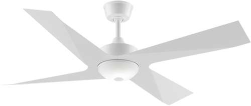 "Modn 4 Blade 52"" 132cm Ceiling Fan with LED Light - White"