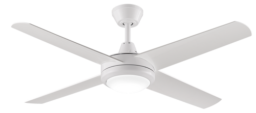 52″ Aspire Ceiling Fan in White with LED Light