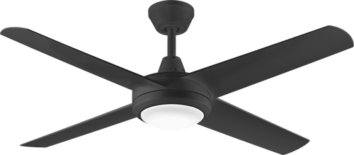 "Aspire 4 Blade 52"" 132cm Ceiling Fan with LED Light - Black"