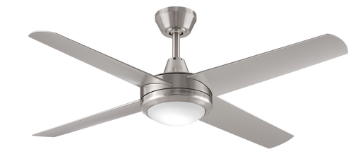 "Aspire 4 Blade 52"" 132cm Ceiling Fan with LED Light - Brushed Nickel"
