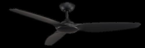 "Flume 60"" 152cm Ceiling Fan - Black"